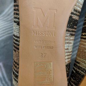 Missoni Shoes - Missoni metallic gold-toned flats (Sz 37)